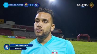 """Carlos Grados: """"Es un valioso empate, pero queríamos los tres puntos"""""""