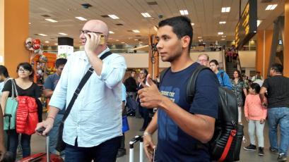 Sporting Cristal: Cristian Palacios llegó a Lima