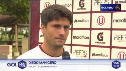 """Diego Manicero: """"Lamentablemente mi gol no sirvió de mucho"""""""