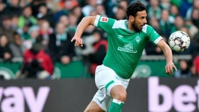 Con Claudio Pizarro, Werder Bremen igualó frente al Hertha Berlín