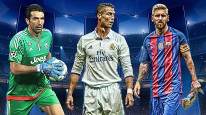Buffon, Messi y Ronaldo son nominados a Mejor Jugador del Año en Europa