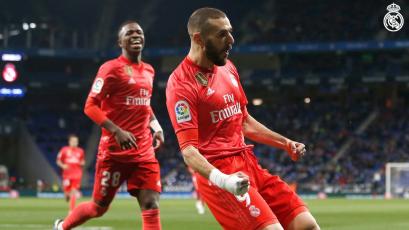 Karim Benzema le da al Real Madrid una nueva victoria ante el Espanyol