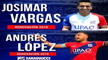 Carlos A. Mannucci: Josimar Vargas y Andrés López renovaron