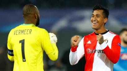 Renato Tapia celebró goleada con el Feyenoord en la etapa previa de la Europa League (VIDEO)