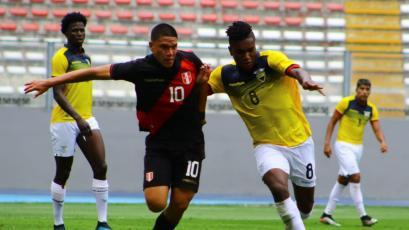 Perú cayó con Ecuador en el Estadio Nacional en un amistoso Sub-23