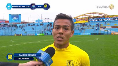"""Sandro Rengifo: """"Tenemos que salir de esto en el próximo partido"""""""