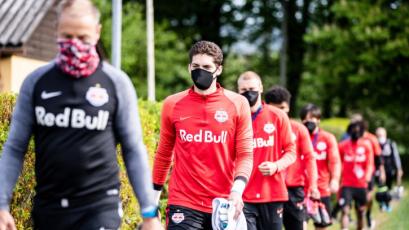 Coronavirus: RB Salzburgo volvió a los entrenamientos bajo estrictas medidas de seguridad