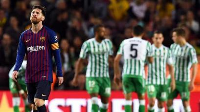 Betis se llevó los tres puntos del Camp Nou en la vuelta de Lionel Messi