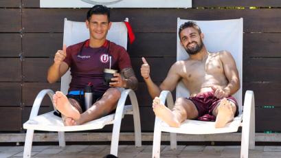 Universitario de Deportes disfrutó de un día de piscina tras el triunfazo ante Huracán (FOTOS)