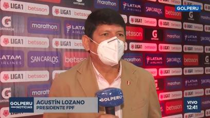 """Agustín Lozano sobre el sorteo de la Liga1 Betsson: """"Tenemos grupos muy parejos y partidos atractivos"""" (VIDEO)"""