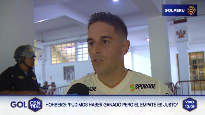 """Alejandro Hohberg: """"El empate fue un resultado justo"""""""