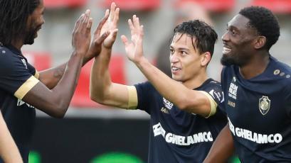 Cristian Benavente anotó en su debut con el Royal Antwerp en Bélgica
