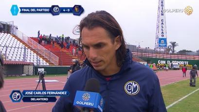 """José Carlos Fernández: """"Era un partido clave para seguir arriba en la tabla"""""""