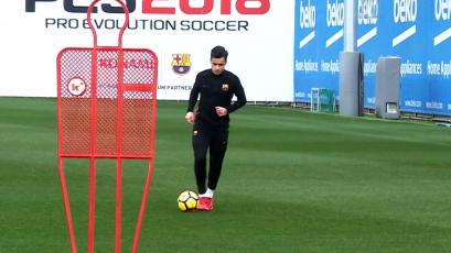 Barcelona: Coutinho ya entrena con balón