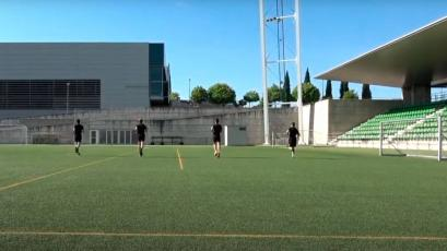 La Liga: árbitros vuelven a entrenar en campo pensando en el reinicio de la competencia (VIDEO)
