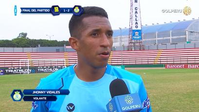 """Jhonny Vidales: """"Nos había costado ganar de visita"""""""