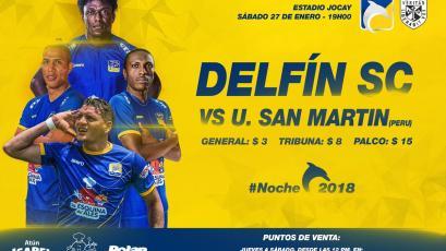 La Universidad San Martín jugará en la presentación de Delfín SC