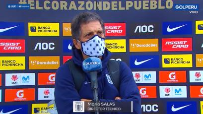 """Mario Salas, tras el empate de Alianza Lima ante Cusco FC: """"Dominamos el partido hasta la expulsión"""""""