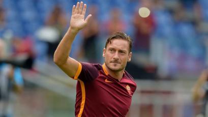 Francesco Totti se despidió de la Roma