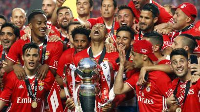 ¡Campeón! Benfica venció al Vitoria Guimaraes y celebra la Copa de Portugal