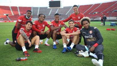 Selección Peruana: último entrenamiento en Santiago antes del encuentro ante Chile