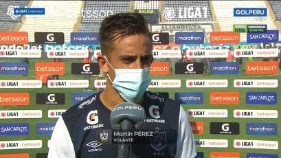 """Martín Pérez: """"Fue un partido muy duro y muy trabado, pero nos llevamos la victoria que es lo importante"""". (VIDEO)"""