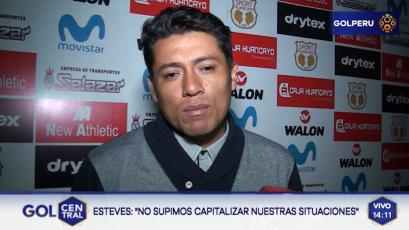 """Guillermo Esteves: """"No supimos capitalizar las situaciones claras que tuvimos"""""""