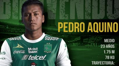 León oficializó fichaje de Pedro Aquino