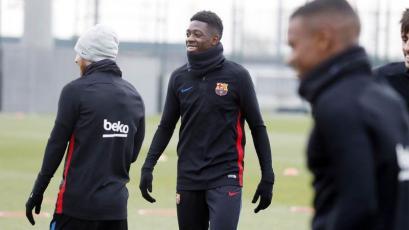 Ousmane Dembélé volvió a entrenar con el Barcelona