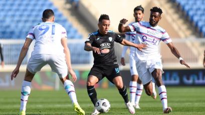Christian Cueva asumió la capitanía del Al-Fateh y volvió a dar un pase gol (VIDEO)