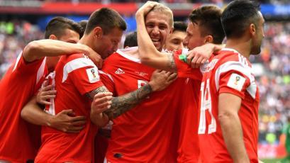 El primer gol del Mundial es ruso