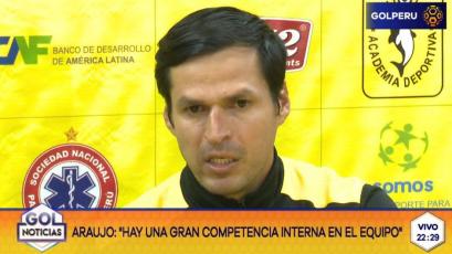 """Jorge Araujo: """"Es un triunfo que estábamos buscando desde hace mucho tiempo"""""""