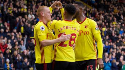 Carrillo anotó en la derrota del Watford contra el Swansea