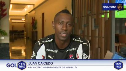 """Juan Caicedo: """"Venimos a enfrentar a un grande de Perú"""""""
