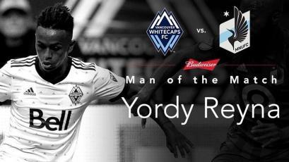 Yordy Reyna anotó y fue elegido como el