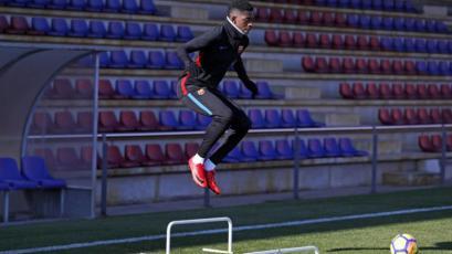 Ousmane Dembelé volvió a entrenar