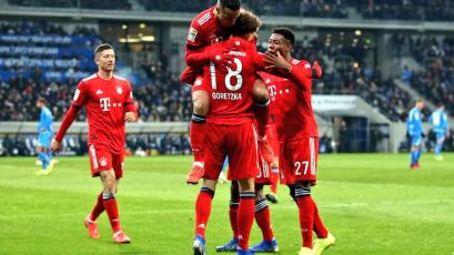Bayern Múnich supera al Hoffenheim como visitante en la vuelta de la Budesliga