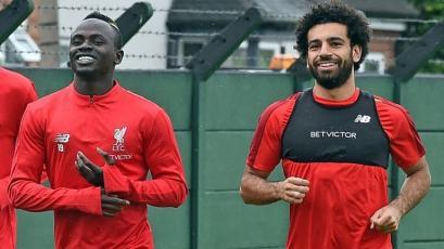 Mohamed Salah se reincorporó a los entrenamientos del Liverpool
