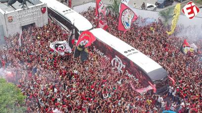 Copa Libertadores: así fue la espectacular despedida al Flamengo que viaja a Lima para la final (VIDEO)