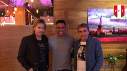 Selección Peruana: Ricardo Gareca visitó a Anderson Santamaría en México (FOTO)