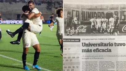 Jean Ferrari tras el triunfo de Universitario: