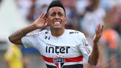 Christian Cueva jugó con Sao Paulo la última fecha del Brasileirao