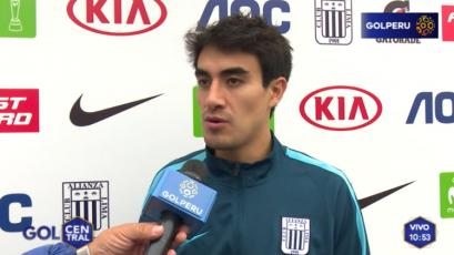 """Luis Garro: """"El equipo está mentalizado en sacar un buen resultado en Cusco"""""""