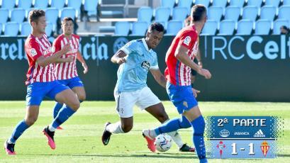 Renato Tapia jugó su tercer partido consecutivo de pretemporada con el Celta de Vigo