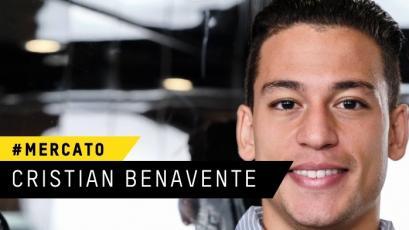 Cristian Benavente fue anunciado como nuevo jugador del Sporting Charleroi de Bélgica