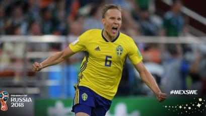 Ludwing Augustinsson fue la figura en el triunfo de Suecia sobre México