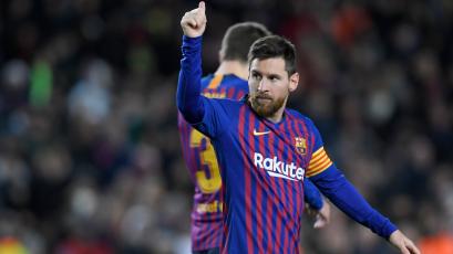 Barcelona goleó al Eibar con el gol 400 de Messi en La Liga