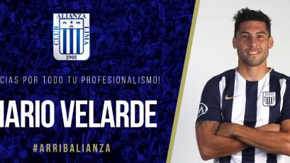Alianza Lima anunció la salida de Mario Velarde