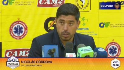 """Nicolás Córdova: """"Fue un resultado injusto por lo que hicimos en la segunda parte"""""""