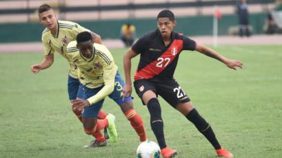 Colombia goleó 3-0 a Perú Sub 23 en amistoso jugado en el Miguel Grau (VIDEO)